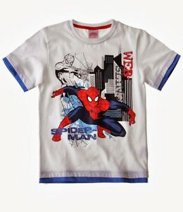 Tee-shirt-Spiderman-4-couleurs