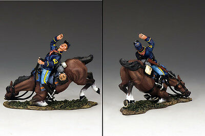 KING AND COUNTRY THE REAL WEST Falling Trooper & Horse TRW50 TRW050