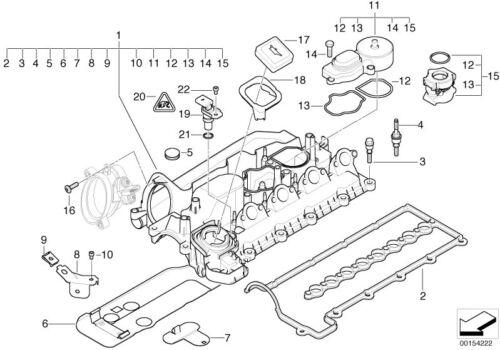 BMW Neu M3 E46 E36 Z3 Original Ölfilter Motorraum Kappe für Öl Füller 1405452