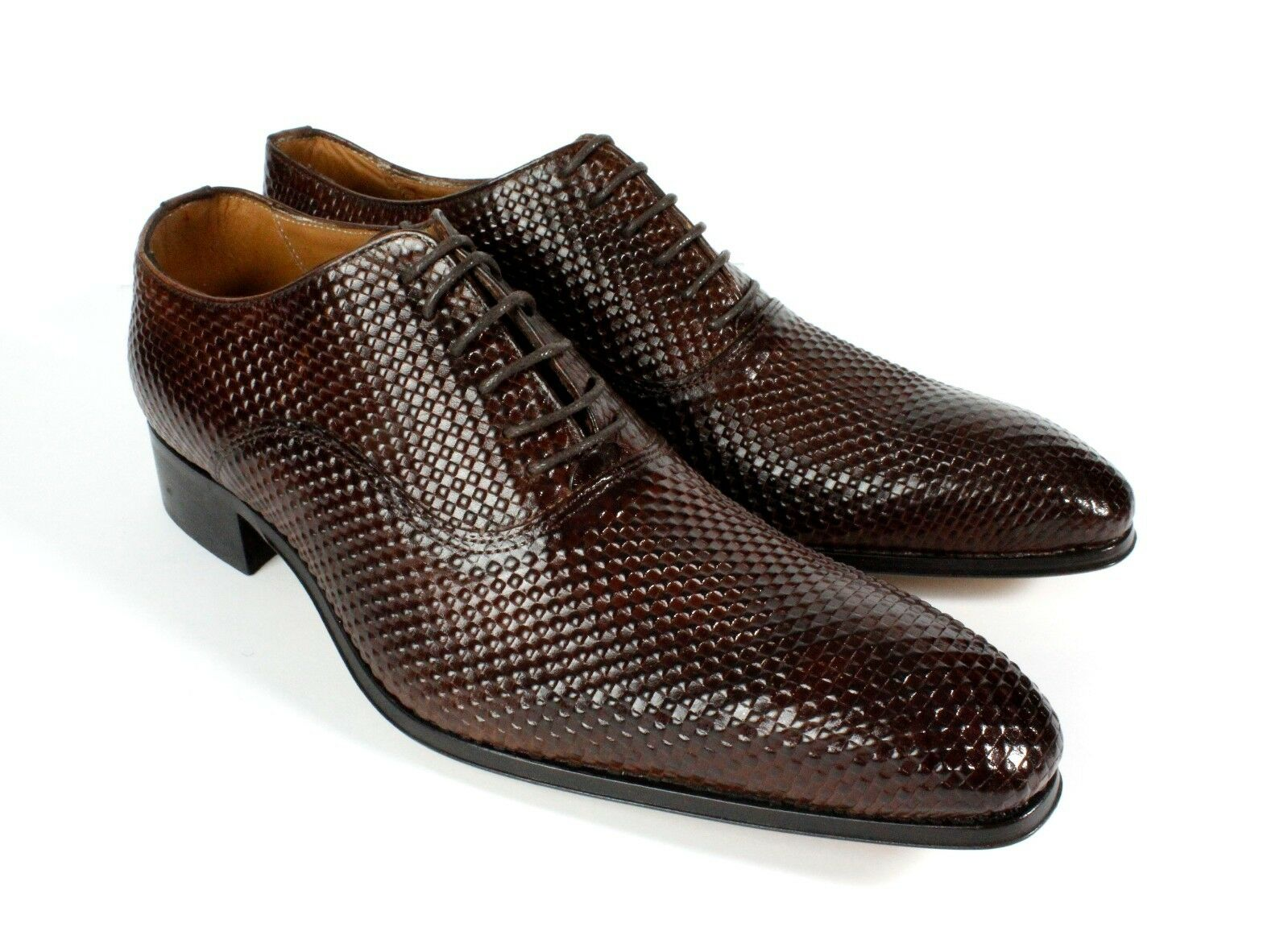 Ivan Troy Brown Yaya Handmade Men Shoes46, Italian Leather Dress Shoes/Oxford Shoes46, Men 47 4a2422