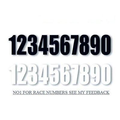 Motorcycle Bike Motocross MX Enduro Quad Trials Kart Race Number-- Sticker Decal