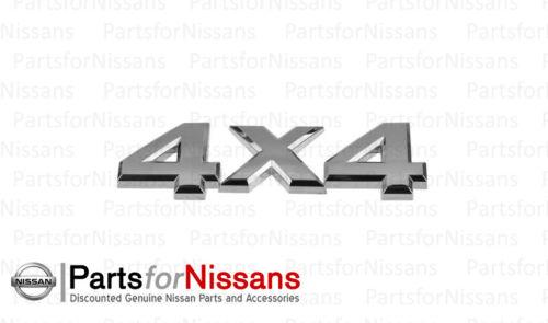GENUINE NISSAN 2005-2010 FRONTIER TITAN XTERRA CHROME 4X4 EMBLEM NEW OEM