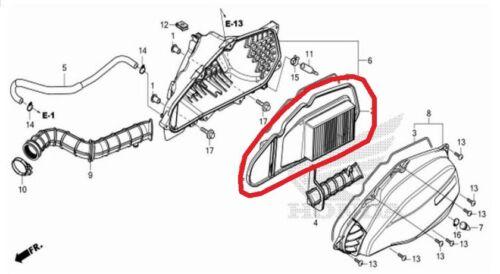 Drive Belt 2015 2016 2017 2018 ** UK STOCK ** Honda PCX125 PCX Air Filter