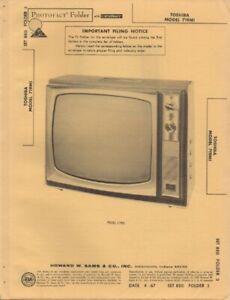 1967 TOSHIBA 719M1 TELEVISION SERVICE MANUAL PHOTOFACT ...