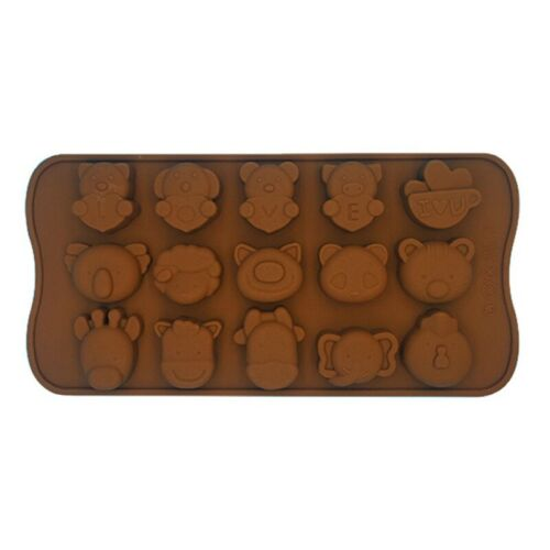 Simple Cute Mould Silicone Ice-Cube Jelly Chocolate Fruit Cake DIY Mold Tray Hot
