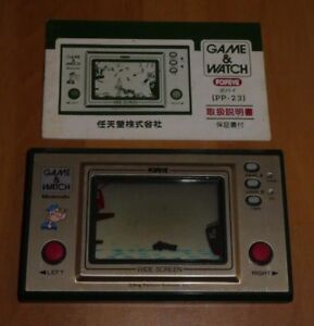 JEU-NINTENDO-RARE-RETROGAMING-GAME-amp-WATCH-WIDESCREEN-POPEYE-PP-23-RARE-JAPAN