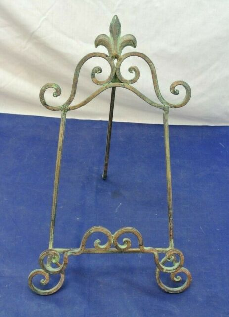 Dollhouse Miniature Gold Metal Plate Holder or  Picture Stand 1:12 Scale
