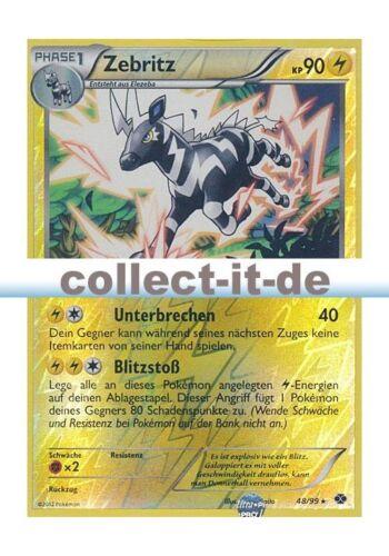 Pokemon Noir /& Blanc Destinées Futures 48//99 zebritz REVERSE HOLO allemand