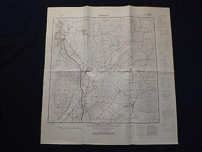 EntrüCkung Landkarte Meßtischblatt 3046 Zehdenick, Wesendorf, Liebenthal, 1945