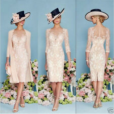 Light Pink Mother Of The Bride Dress Lace With Jacket Custom Made Party Gowns