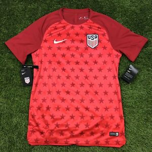 e9feb1582 New Nike USA Soccer Pre Match Jersey Size Medium M Slim Shirt Red ...