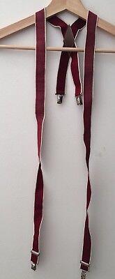 Ragazzi Bretelle Rosso Con Argento Clip < Nh8619-mostra Il Titolo Originale