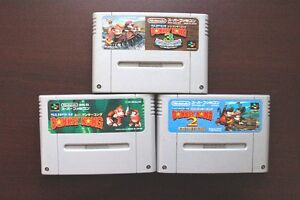 Super-Famicom-SFC-Super-Donkey-Kong-1-2-3-Country-Japan-SNES-game-US-Seller