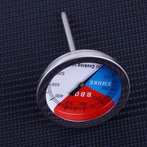 2stk Edelstahl BBQ Barbecue Smoker Grill Thermometer Kochen Temp Gauge 100-550°F
