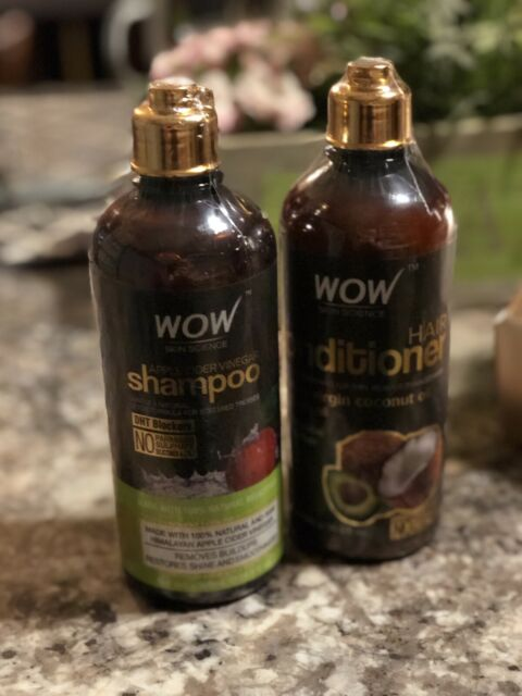 WOW Apple Cider Vinegar Shampoo + Wow Coco-Avocado Hair Conditioner 500 ML Each