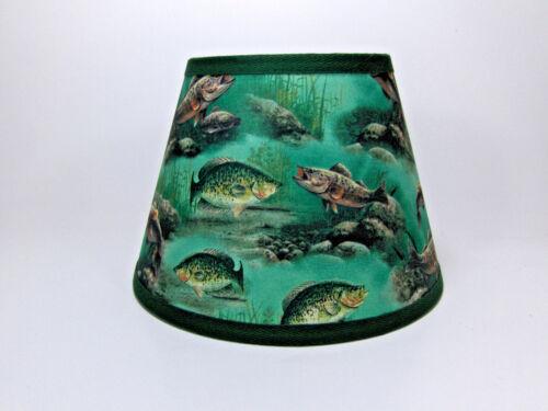 Green Hautman Scenic Fish Print Fabric Lampshade Lamp Shade