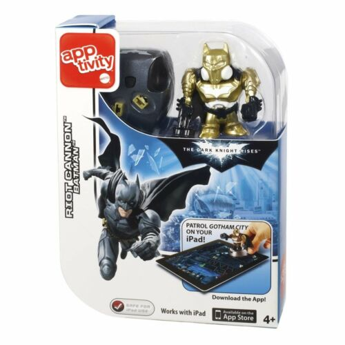 "Dark Knight Rises 2/"" Figure Cannon Batman Mattel Apptivity"