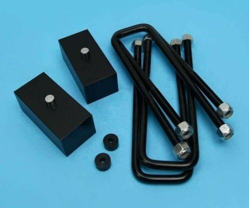 "1/"" Rear Black Billet Lift Kit Fits 1988-1999 Chevy K1500 K2500 K3500 4WD"
