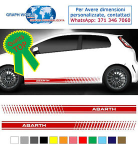 fasce-adesive-punto-auto-stickers-tuning-strisce-fiancate-laterali-racing-abarth