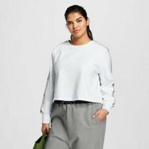 7210c66901ea98 Hunter For Target Women's Plus Size Chain Trim Sweatshirt White NWT ...