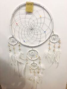 Dream catcher large silk colour wind chime hanging home decor native