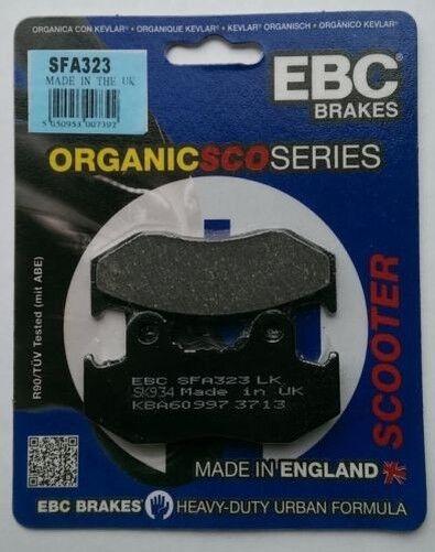 Italjet Jack 125 / 150 (2007) EBC Organic REAR Disc Brake Pads (SFA323) (1 Set)