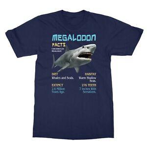 Megalodon | Meg Facts Funny Shark Lover Men's T-Shirt