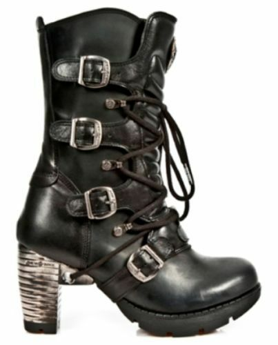 NewRock NEW ROCK TR003-S1 Back Steel Heel Strap Buckle Gothic Punk Ladies Boots