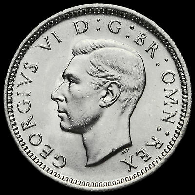 1945 George VI Silver Sixpence, G/EF #2