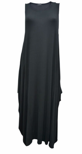 Womens Asymmetric Italian Soft Touch Lagen look Cocoon Tunic Dress SIZE 8-14