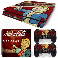 Ps4 Slim Console And Dualshock 4 Controller Skin Set - Fall Out 4 Nuka 3