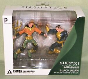 DC Collectibles Injustice Aquaman vs Black Adam Action Figure 2-Pack Free Ship