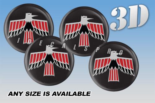 PONTIAC FIREBIRD 1967-69 wheel center cap decals emblems 4 pcs ~ ANY SIZE ~ c//b