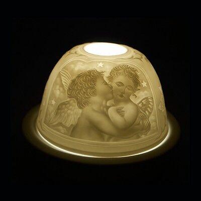 Starlight Nr.104 - Porzellanteelicht, Windlicht, Deko-kerze, Hellmann, 2 Engel