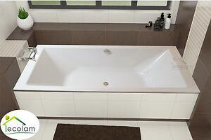 Fabulous Badewanne große Wanne Rechteck eckig Acryl 200 x 90 cm Füße Ablauf HM85