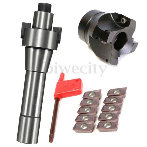 "BAP400R-50-22-4F 50mm 2/"" Indexable Face Mill Cutter R8 Arbor 10X APMT1604 Insert"