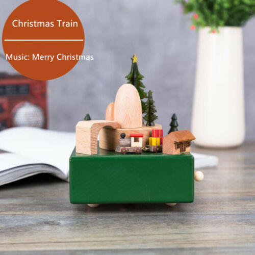 Wooden Music Box Musical Carousel Ferris Wheel Home Decor Creative Gift 27 Style