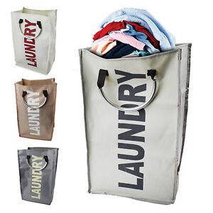 c6b96b30086c Details about Laundry Bag Basket Hamper Sorter Folding Dirty Washing Sack  Clothes Storage Bin