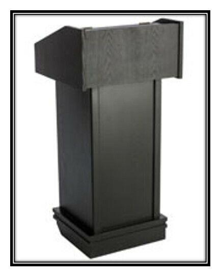 Black Wooden Box Shape Podiums