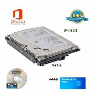 500GB-64-bit-Desktop-Computer-Hard-Drive-Windows-10-Office-2013-Plug-amp-Play