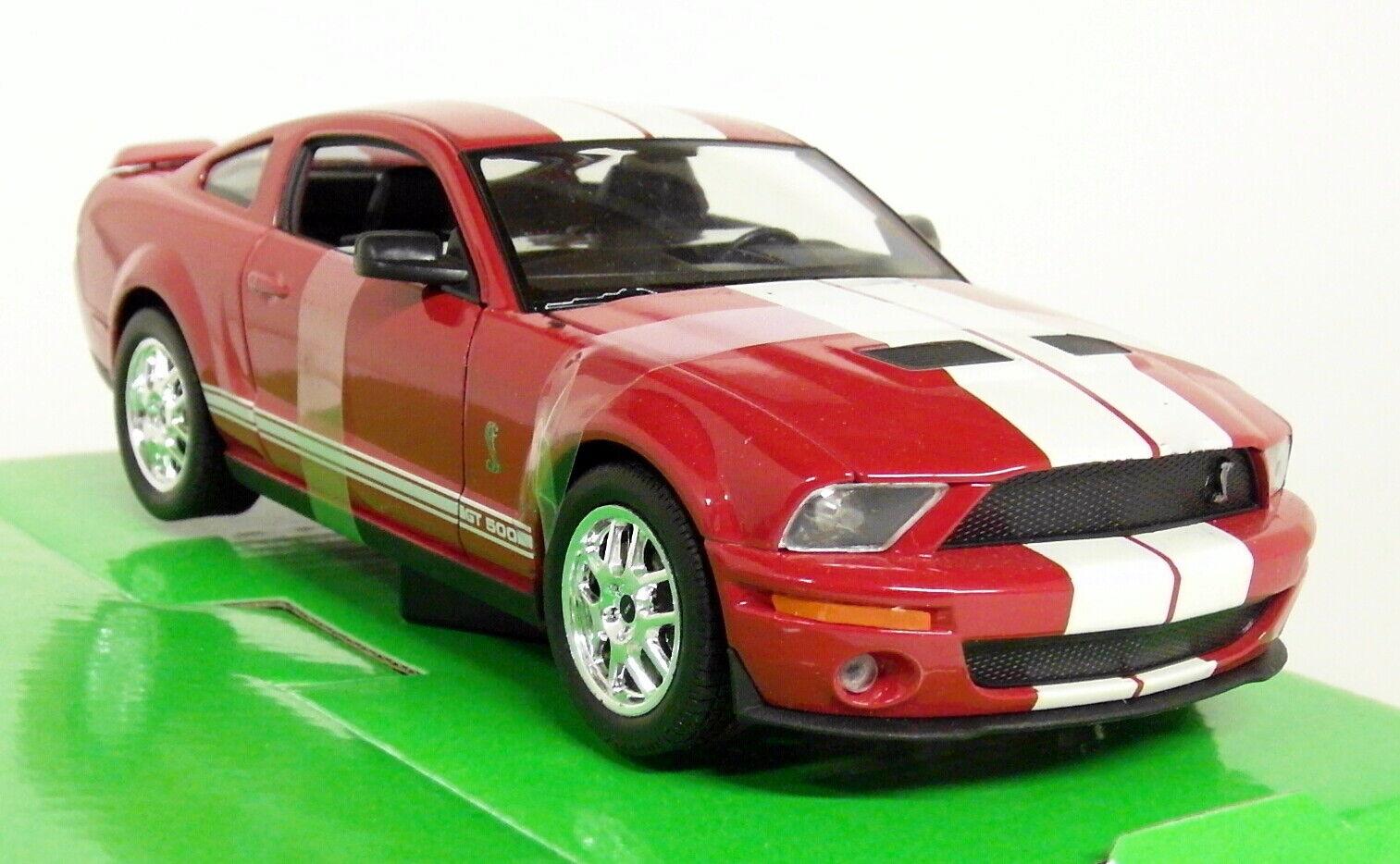 Nex modellllerler 1  24 -27 skala - 2007 Shelby Cobra GT500 Mustang röd tärningskast modellllerlbil