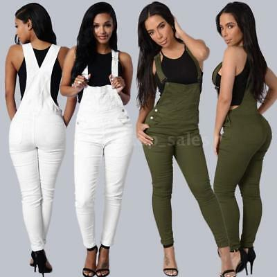 Women Slim Denim Jeans Pants Ripped Overalls Jumpsuit Rompers Trousers HOT S9M1
