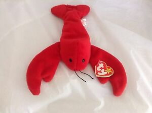 3fbfb5e87f8 Ty Beanie Baby Original Pinchers Lobster Birthday 6-19-93 8421040261 ...