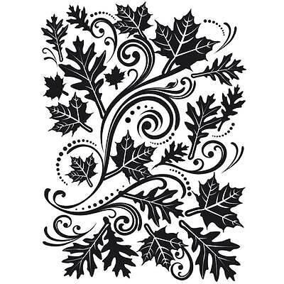 Darice Embossing Folder  IVY CORNER Swirls Corners  A2 1218-04 A2 Card Making