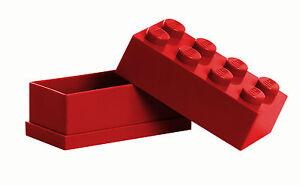 LEGO Storage MINI Snackbox 8 ROT perfeckt in Brotdose Schule Lunchbox RED NEU