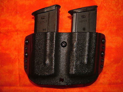 HOLSTER COMBO BLACK KYDEX FITS FN 5.7 MK2 WITH DOUBLE MAG HOLSTER