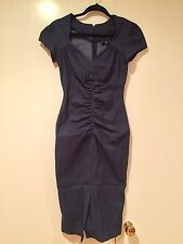 New Womens Stop Staring Navy Blue Jean Dress Size Medium VERY HOT! MUST SEE!