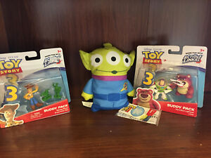 DISNEY-TOY-STORY-ACTION-Figures-Woody-BUZZ-lightyear-amp-LOTSO-Alien-Free-44-95