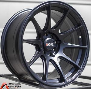 XXR-527-15X8-25-Rims-4x100-114-3mm-0-Black-Wheels-Fits-Civic-Ef-Ek-Eg-Miata-Mr2
