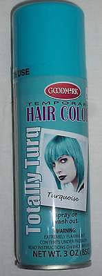 Totally Turq Halloween Temporary Hair Color Turquoise Spray Costume Make-Up Wash